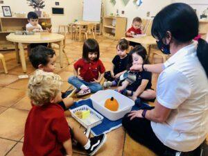 Montessori teachers in the classroom