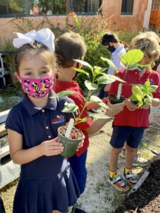 gardening at montessori school